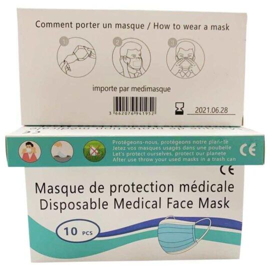 Masques Chirurgicaux Type I - Boite De 50 Pieces