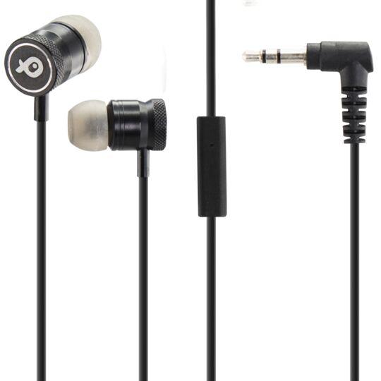 Ecouteurs intra-auriculaire avec micro - PSINTM02 - Noir