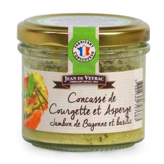 Concassé de Courgette et Asperge, jambon de Bayonne et basilic JEAN DE VEYRAC