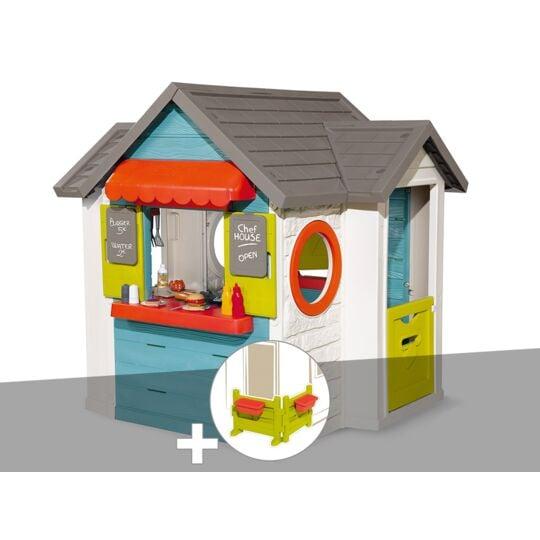 Cabane Enfant Smoby Chef House + Espace Jardin