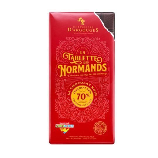 Tablette chocolat noir 70% - 100g - CHEVALIERS D'ARGOUGES