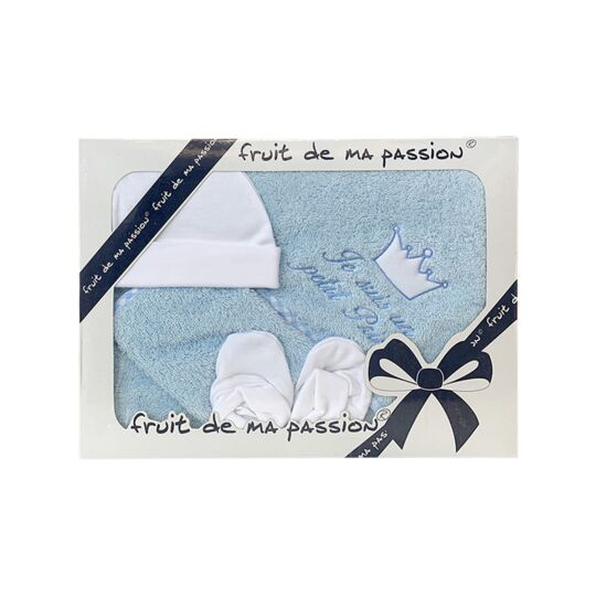 Coffret Sortie De Bain Bleu - Je Suis Un Petit Prince FRUIT DE MA PASSION