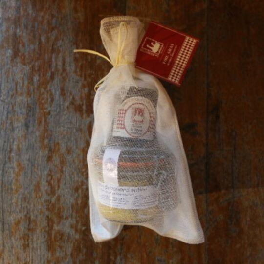 Pochon foie gras et chutney de figues LES BOURIETTES
