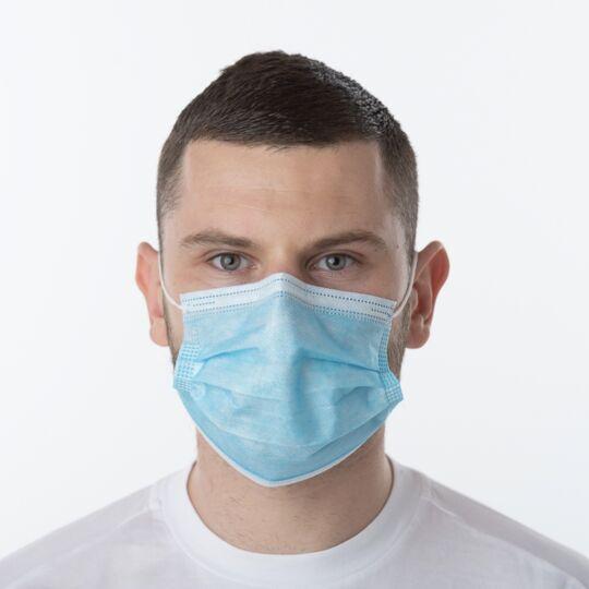 100 Masques Chirurgicaux 3 Plis Type 2 Et 95% Filtration