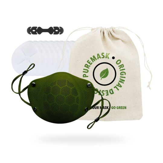 PUREMASK | Masque en silicone réutilisable - Catégorie 1 - ( Vert / M ) PURE FACTORY