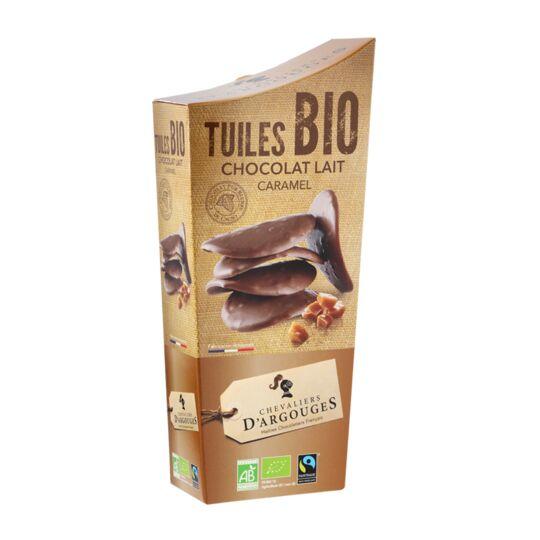 Tuiles lait caramel Bio/Équitable 130g - CHEVALIERS D'ARGOUGES