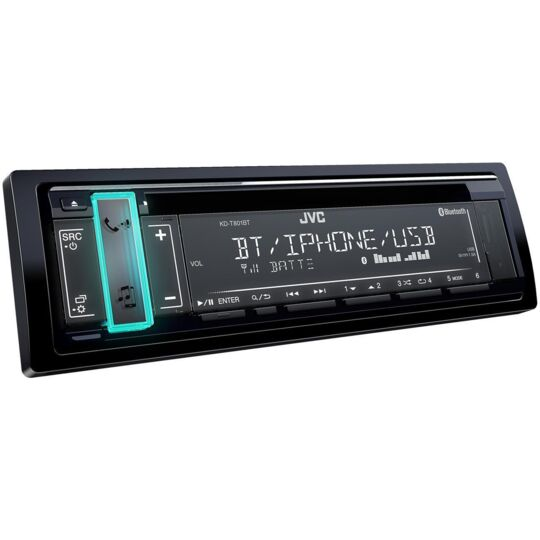 Autoradio Bluetooth 1 Din - KD-T801BT - Noir