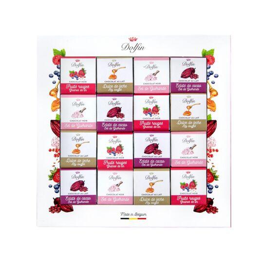 "Boîte de 48 carrés gourmands ""Sucré-salé"" - 4 Saveurs CHOCOLAT DOLFIN"