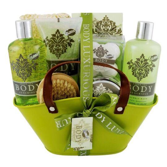 Coffret De Bain Au Parfum Relaxant De Thé Vert - 13pcs GLOSS