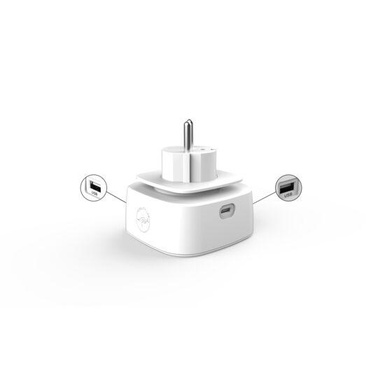 Prise Murale + 2 USB & 1 USB-C - ML310237 - Blanc