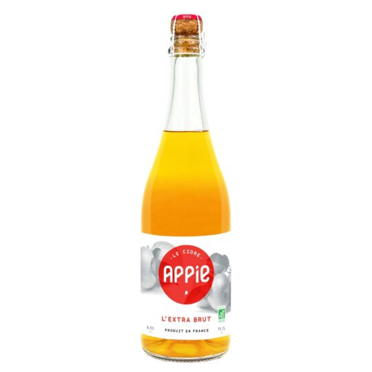 Cidre APPIE - L'EXTRA BRUT BIO (6.5%) - 75cl APPIE