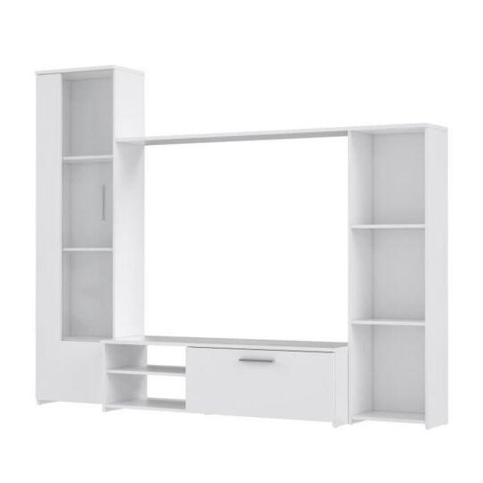 Pilvi Meuble Tv Blanc Mat L 220 4 X P41 3 X H177 5 Cm La Bouteille A Prix Carrefour