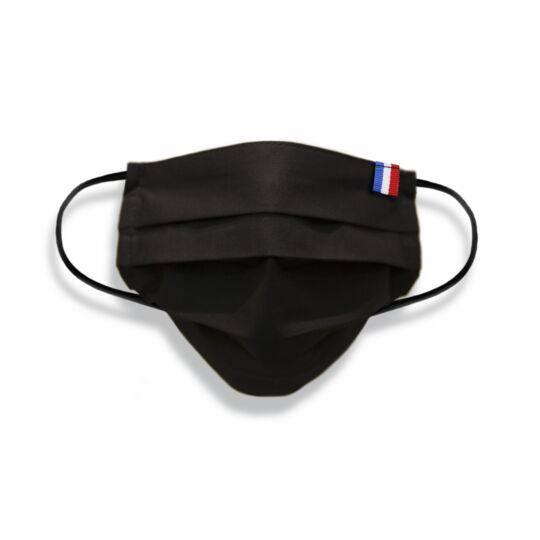 Masque Adulte Made In France En Tissu Noir
