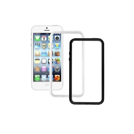 Pack de 2 bumpers pour iPhone 5, 5S et SE - Noir et Transparent