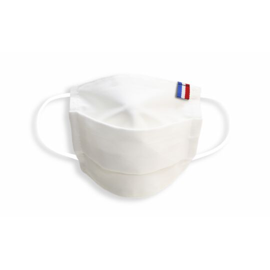 Masque Enfant Made In France En Tissu Blanc