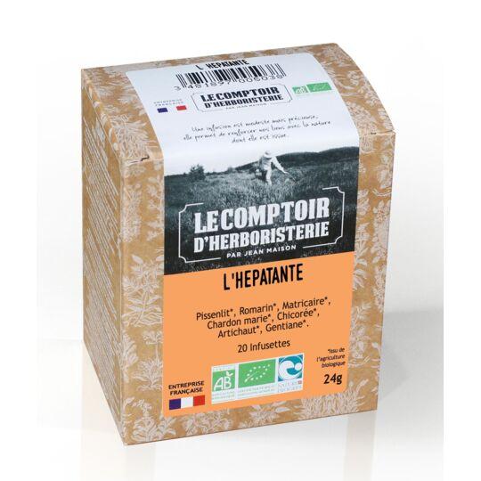 Tisane Infusette L'hepatante Bio (x20) - Drainante Du Foie LE COMPTOIR D'HERBORISTERIE
