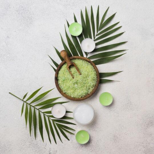 Cristaux De Sel Vert Jade Bambou D'hawaï - 120g - Hecosfair HECOSFAIR