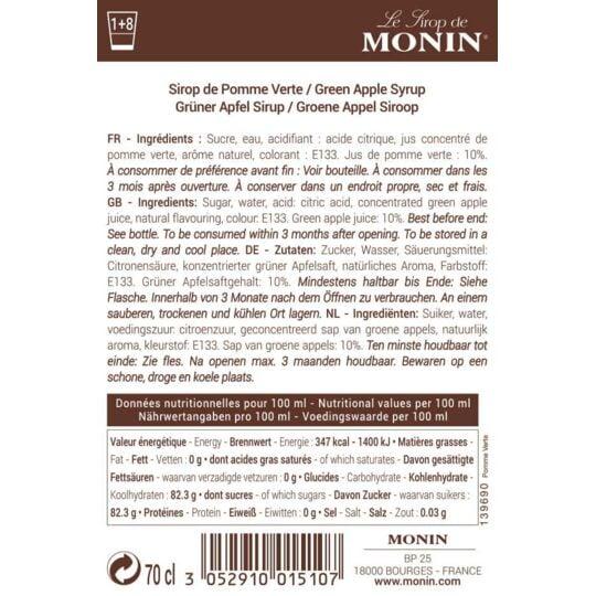 Sirop De Pomme Verte - Arôme Naturel - 70cl MONIN