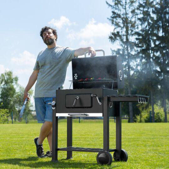 Barbecue Charbon Avec Grille À Hauteur Réglable TECTAKE
