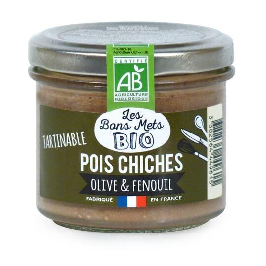 Tartinable de pois chiches, olive & fenouil LES BONS METS BIO