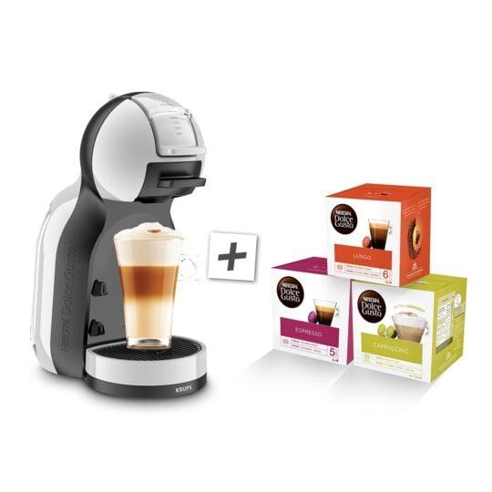 Machine expresso Nescafé Dolce Gusto + 3 boites de dosettes - YY4567FD - Gris artic