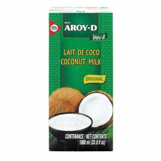 Lait De Coco En Brique 100% - Marque   - Original 1l - 1 Litre AROY-D