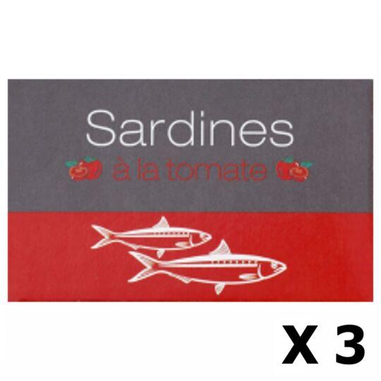 Lot 3x Sardines À La Tomate - Maroc - Conserve 125g AGIDRA