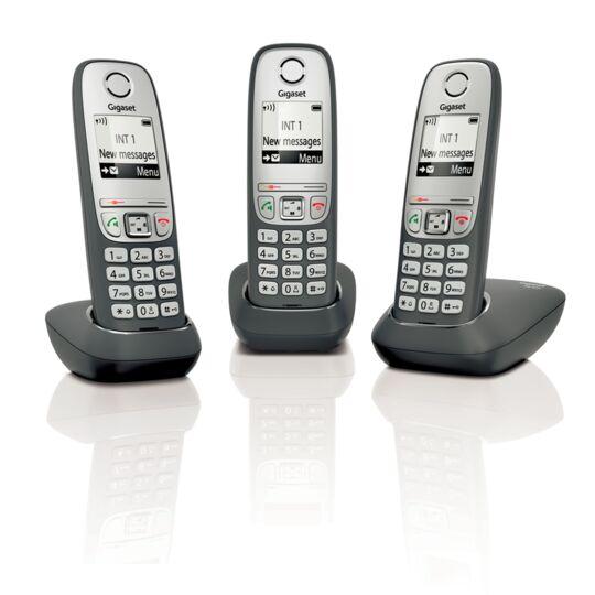 Téléphone fixe sans fil sans répondeur - AS435 - Trio Noir