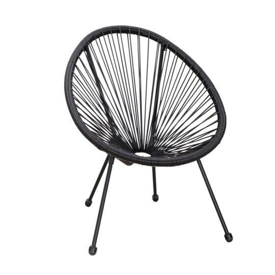 fauteuil jardin acapulco noir carrefour