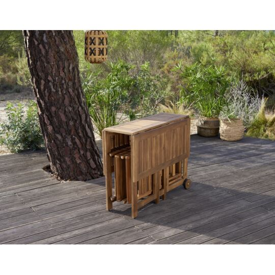 Table et chaises pliantes Acacia