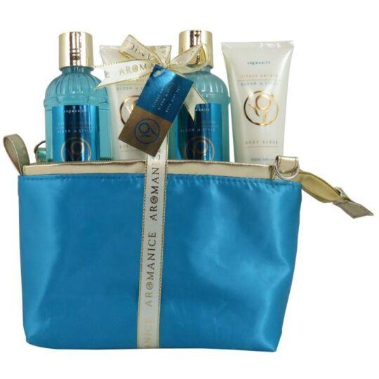 Coffret De Bain - Trousse Bleu Et Dorée - Agrumes Et Orchidée GLOSS