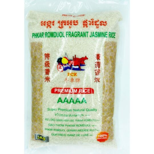 "Riz Long Du Cambodge Extra Parfumé Au Jasmin 5kg ""gao Thom"" - Qualité  20kg (4x5kg) AAAAA"