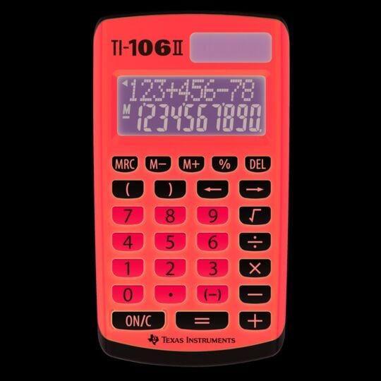 Calculatrice de poche TI-106 II
