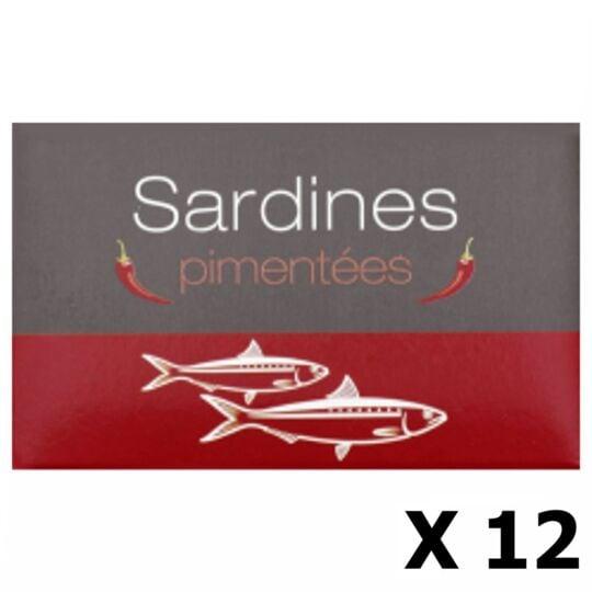 Lot 12x Sardines Pimentées - Maroc - Conserve 125g AGIDRA