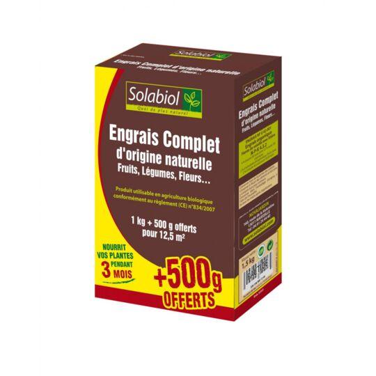Engrais Complet, Etui De 1kg + 500g Offerts SOLABIOL