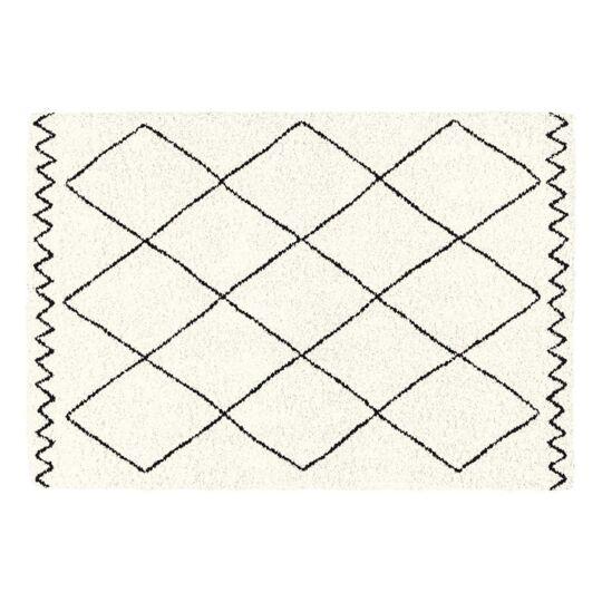 Tapis Rectangle 120x170 Cm Saoura Beige DOUCEUR D'INTERIEUR