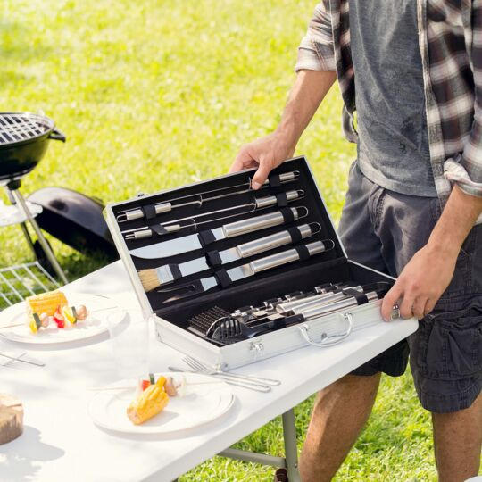 Mallette Barbecue 18 Accessoires TECTAKE