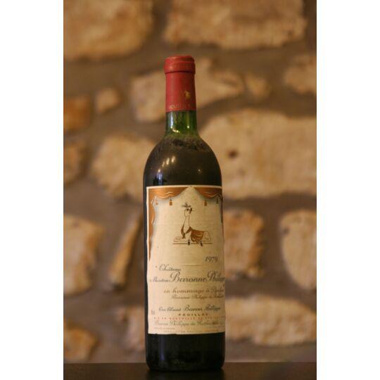 Vin Rouge, Château Mouton Baronne Philippe 1979