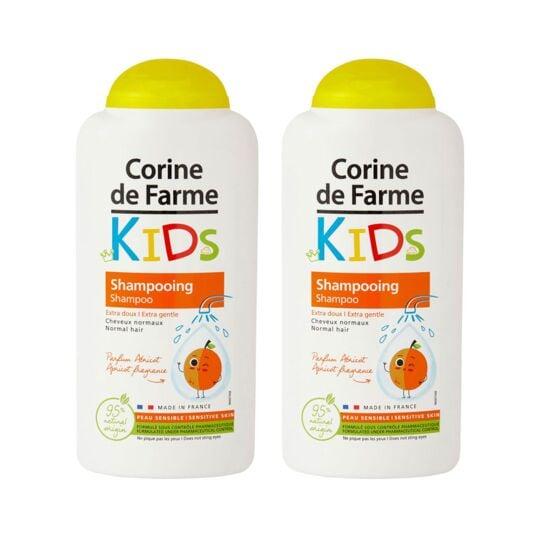 Lot De 2 Shampooings Kids Extra Doux Parfum Abricot CORINE DE FARME