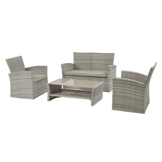 Table basse et fauteuils / canapé de jardin Ouvéa
