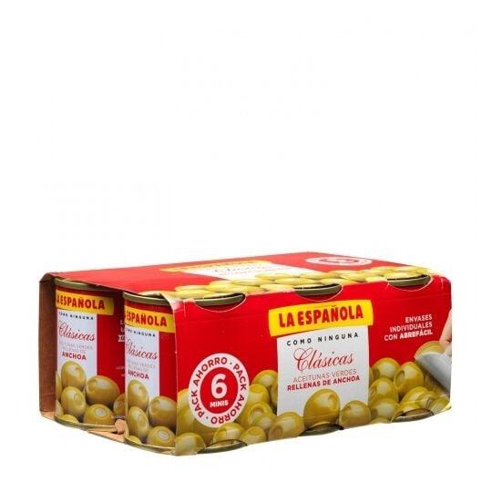 Olives Farcis Aux Anchois La Española 6x50 Grs