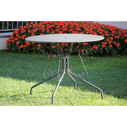 Table De Jardin Ronde Romantique Graphite A Prix Carrefour