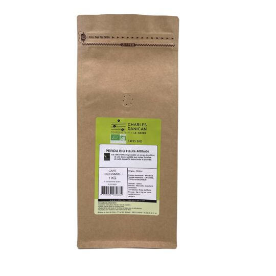 Café Pérou Bio 1kg Grains
