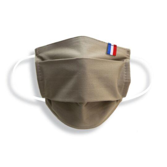 Masque Enfant Made In France En Tissu Beige
