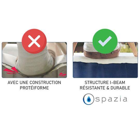 Spa Gonflable Carré - 4 Personnes - Gonflage En 5 Minutes - Bâche Et Filtre Inclus