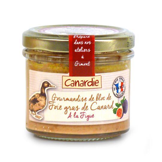Gourmandise de bloc de foie gras de canard à la figue CANARDIE