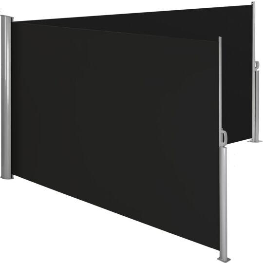 Paravent Rétractable Double 200 X 600 Cm Noir TECTAKE