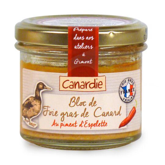 Bloc de foie gras de canard au piment d'Espelette CANARDIE