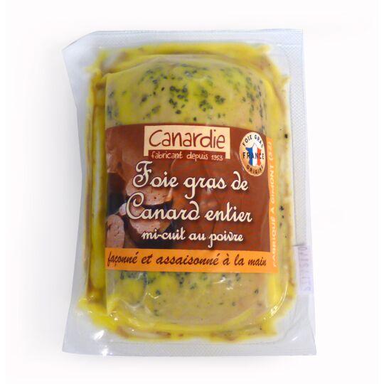 Foie gras de canard entier mi-cuit au poivre CANARDIE